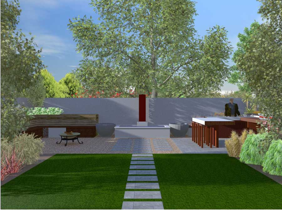 3d cad landscapers mornington peninsula garden design for Garden design graphics